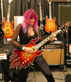 Shredmistress with handmade Tipton Guitar