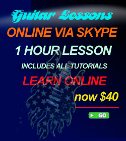 Skype On-line Guitar Lessons 1 Lesson