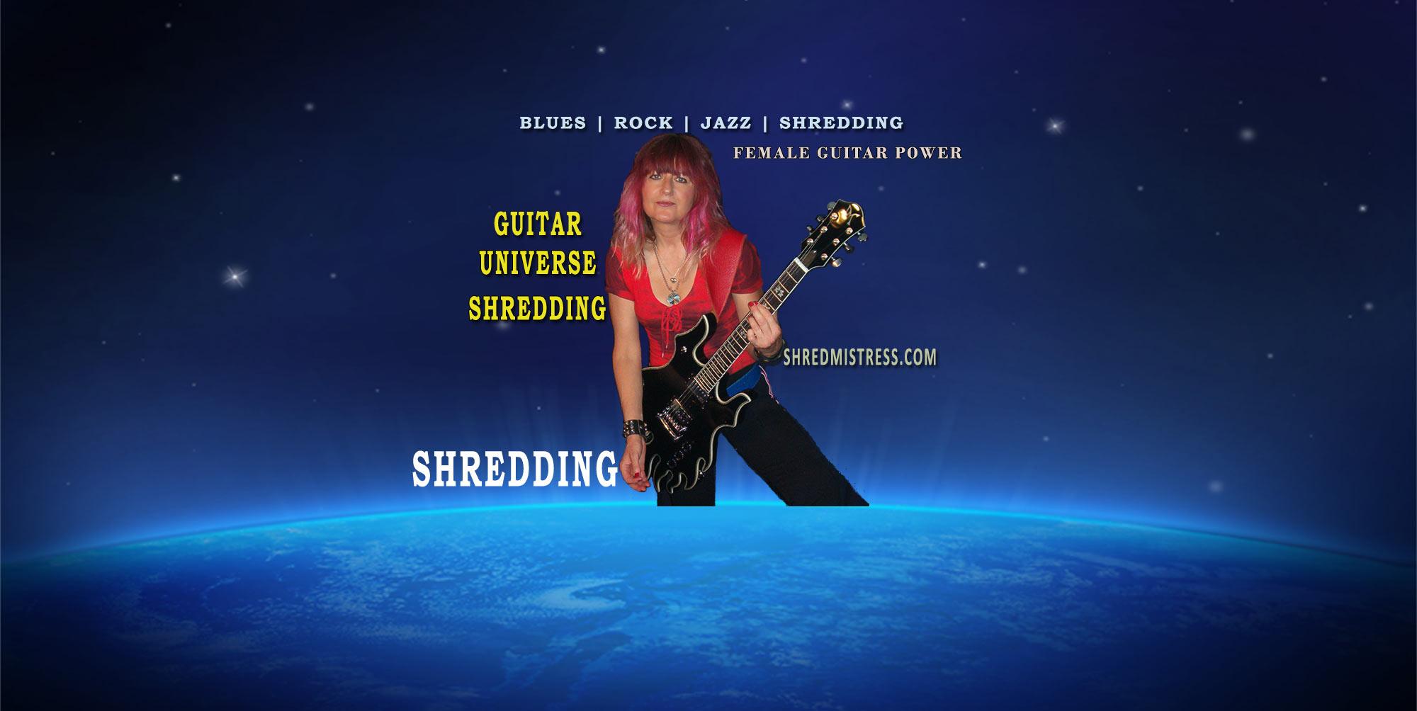 Female Guitarist and Guitar Teacher Shredmistress Rynata