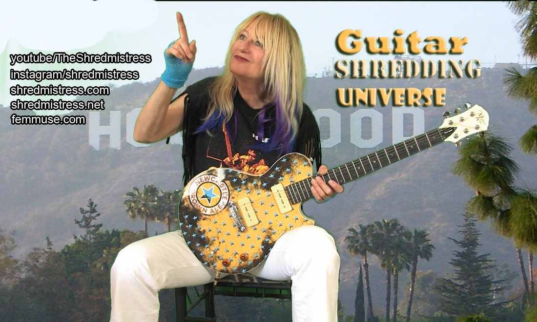 Female Guitar Teacher Shredmistress