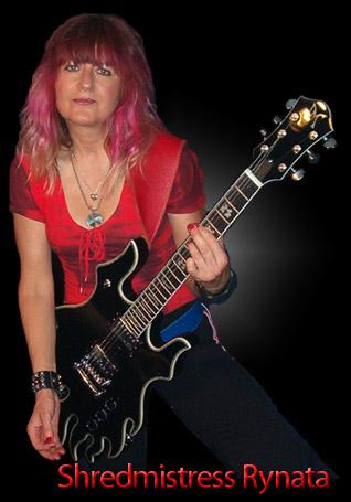 Minarik Black Inferno Guitar for Shredmistress