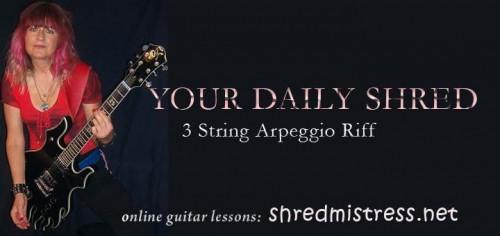 Shred Guitar Arpeggio on 3 Strings